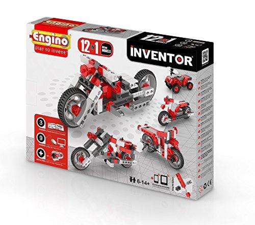 Engino-INVENTOR 1232 - Konstruktionsbausatz 12 in 1 Motorräder