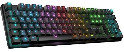Amazon Angebot: Roccat Suora FX RGB Illuminated rahmenlose mechanische Gaming Tastatur, DE-Layout, RGB Tastenbeleuchtung, Switch-Typ: TTC Brown