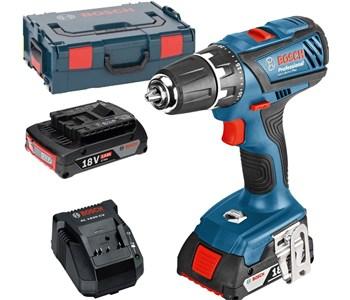 [alternate@eBay] Bosch Professional GSB 18-2-LI Plus Akku-Schlagbohrschrauber (2 x 2,0 Ah Akku, 18 V, L-Boxx, Schnellladegerät, 06019E7100)