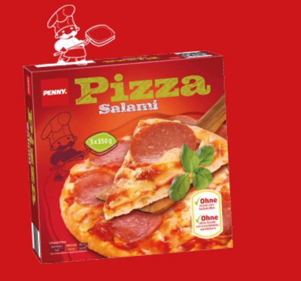 30% Rabatt auf TK-Pizzen + ab Freitag 5€ Rabatt ab 40€, z.B. 69 Salamipizzen für 35,09 (~51cent/Stück) [Penny]