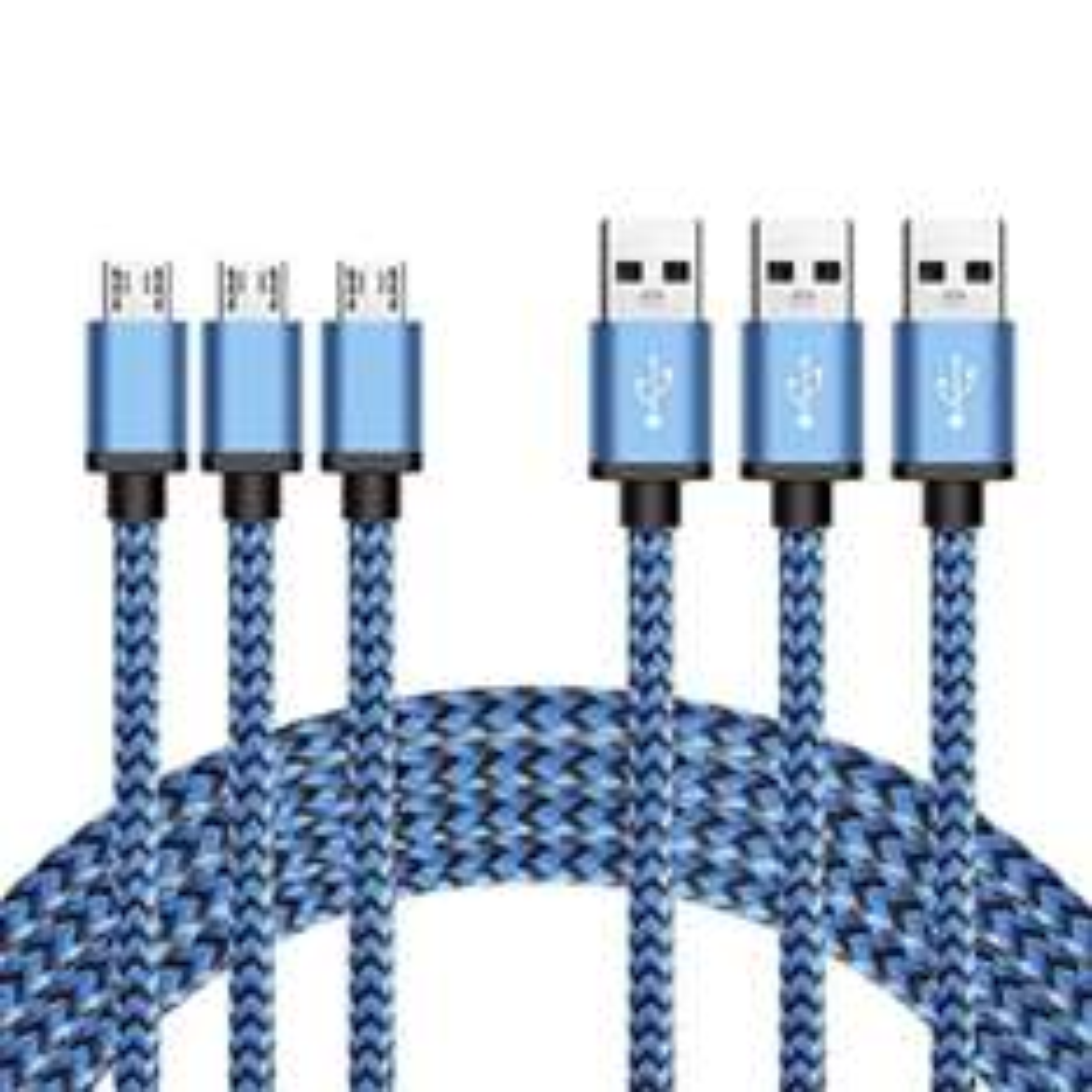 [Amazon Prime] Micro-USB Nylonkabel (3 x 3m) für 7,99€ (VGP: 10,99€)