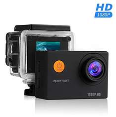 Apeman Sports Action Cam 1080p mit Zubehör Amazon Warehouse