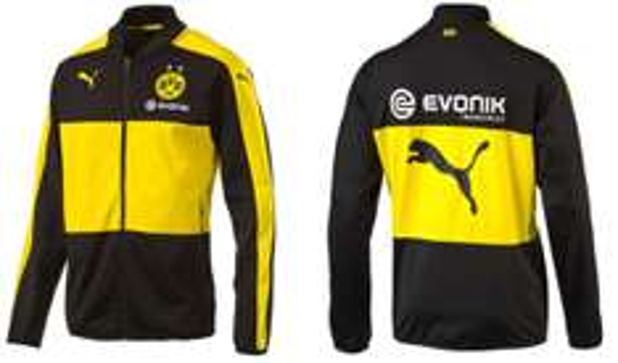 Puma BVB Poly Jacket with Sponsor Herren Trainingsjacke für 34,36€