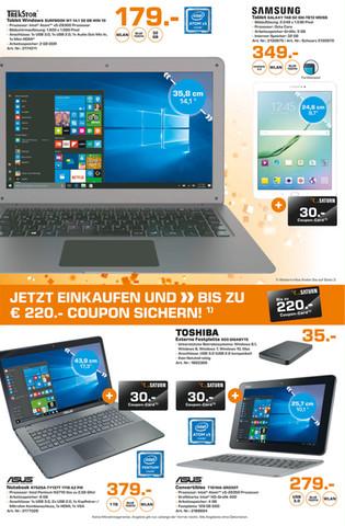 [lokal Saturn Lübeck] Samsung Galaxy Tab S2 9.7 Wifi für 349 Euro + 30 Euro Coupon + 100 Euro Cashback von Samsung