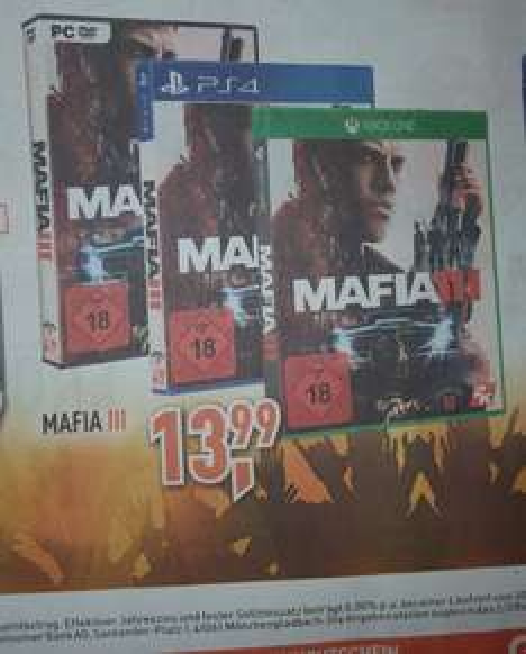 [Alle Berlet Filialen] Ab 4.5 Mafia 3 für PC, PS4 und Xbox One für jeweils 13,99€