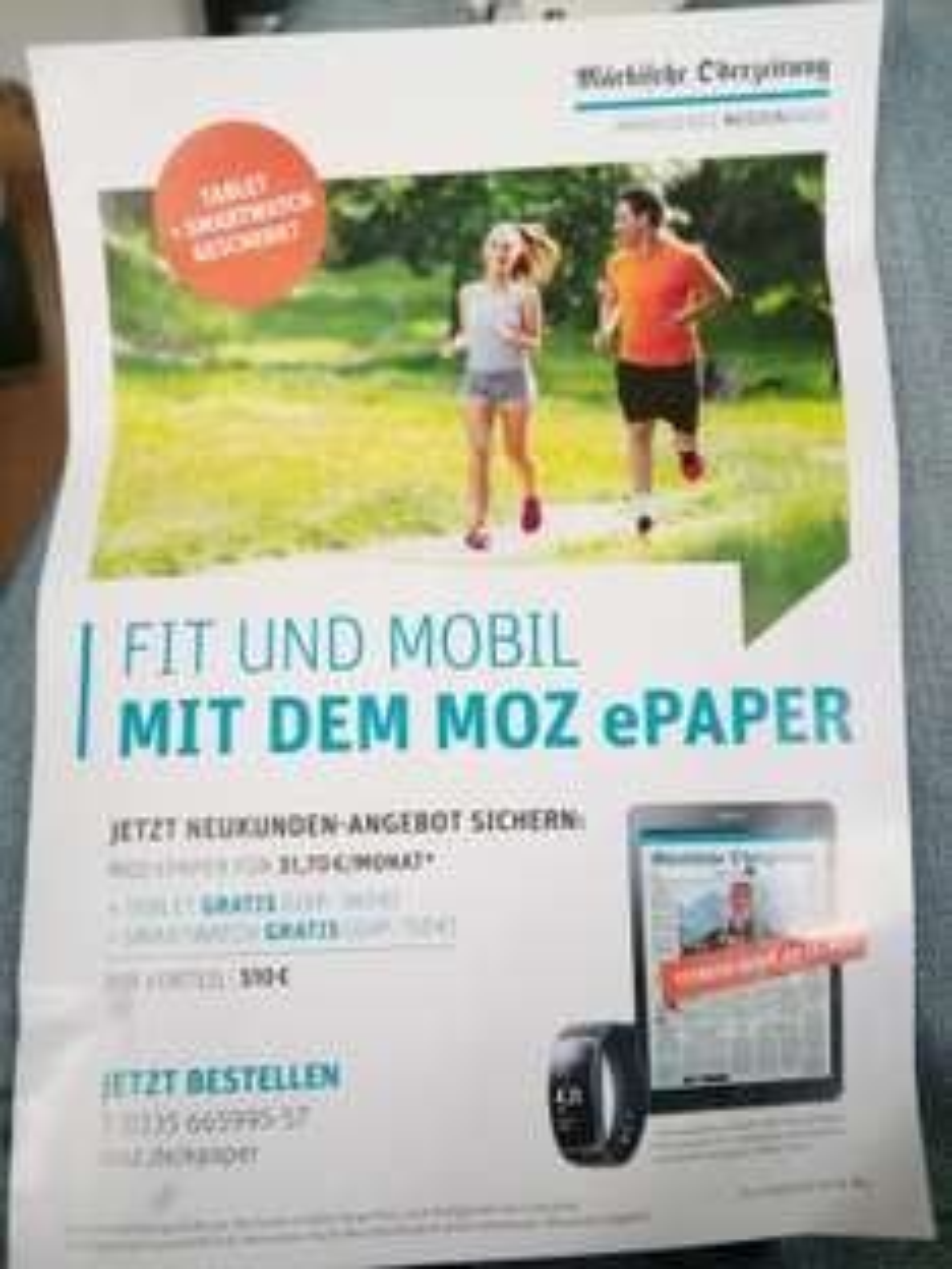 [Lokal] 2-Jahres-Abo der Märkischen Oderzeitung als E-Paper inkl. Samsung Tab S2 und Samsung GearFit 2 Smartwatch