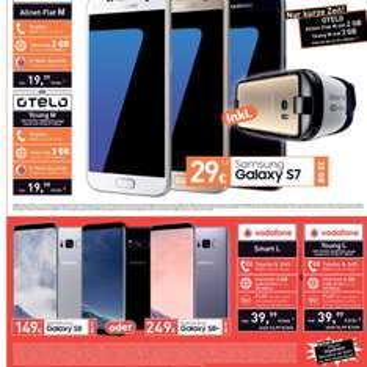 Samsung Galaxy S7 32 GB inkl. VR-GEAR 19,99 monatlich im Vodafone-Netz