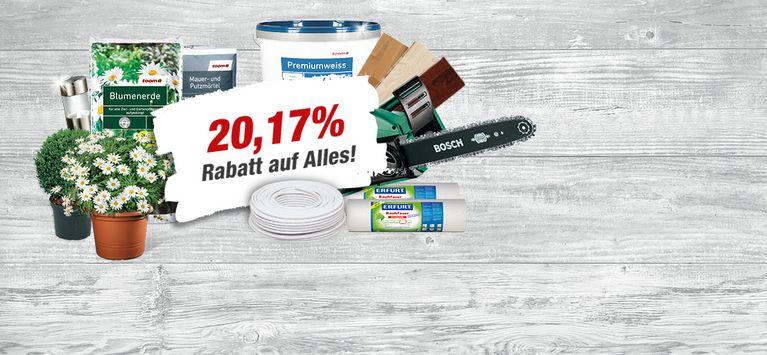 Toom Baumarkt Alzey 20.17 Prozent auf alles vom 08.05.-13.05,