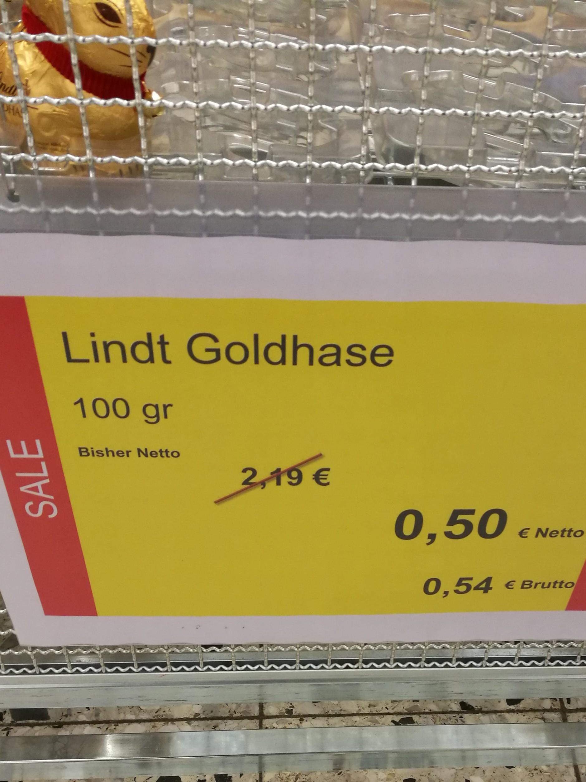 [METRO] - Lindt Goldhasen 100g für 0,54€ und 50g für 0,34€ uvm. #REGIONAL Saarbrücken(auch andere)
