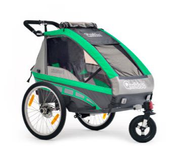 Qeridoo Kinderfahrradanhänger KidGoo 1 Grün für 318,49€ versandkostenfrei bei [babymarkt]
