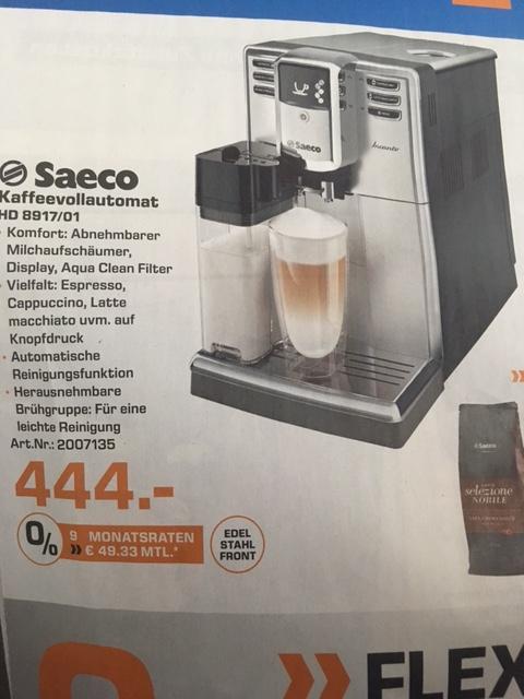 Saturn Leverkusen Jubiläum: Saeco HD 8917/01