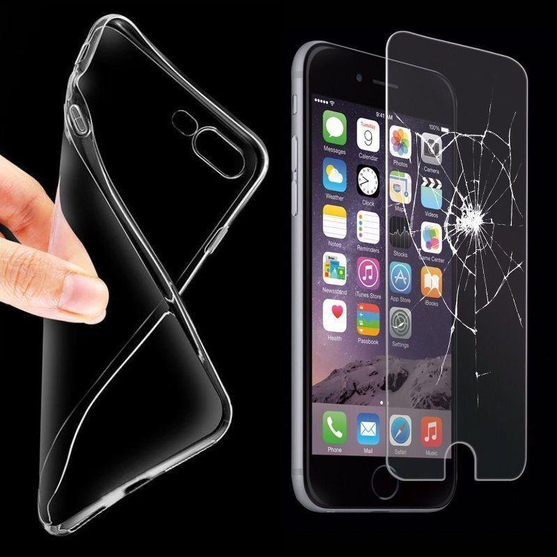 [ebay] Handyhülle Schutz Hülle ( Silikon Bumper ) + 2 X PANZER GLAS Folie für viele Modelle