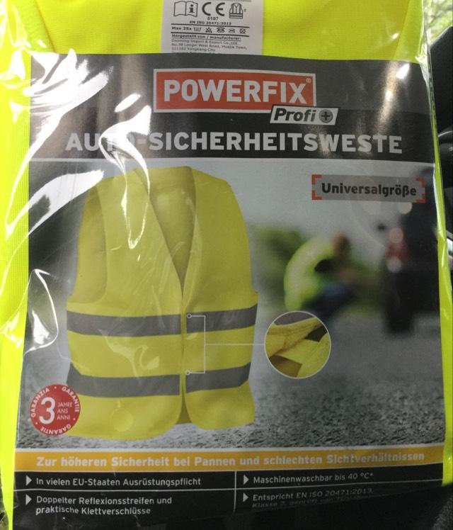 Warn + Sicherheitsweste Powerfix - Lidl