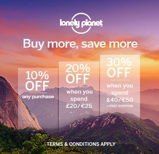 Lonely Planet Reiseführer für 5,95 und bis zu 70% Rabatt