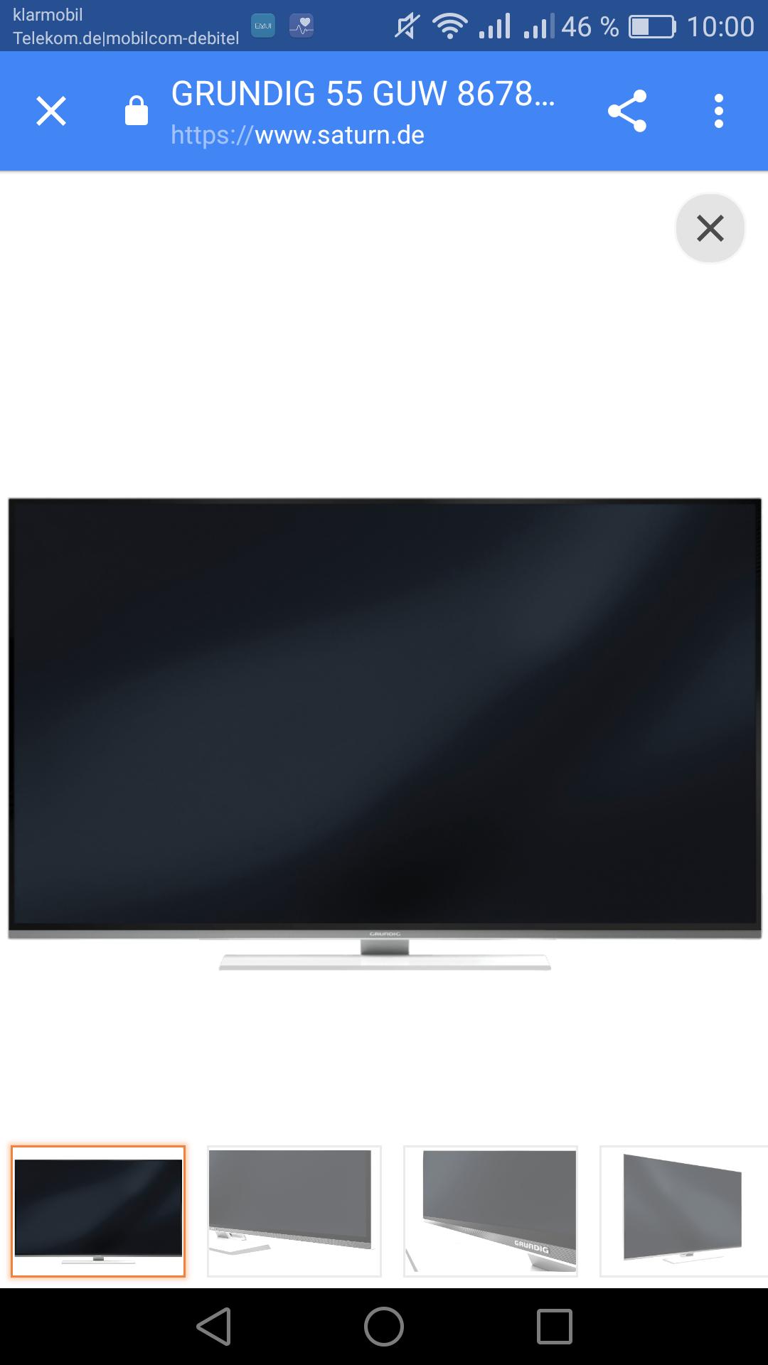 GRUNDIG 55 GUW 8678, 139 cm (55 Zoll), UHD 4K, SMART TV, LED TV,saturn (jetzt nur noch bei Abholung)