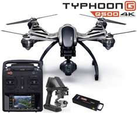 Yuneec Typhoon Q500 G RTF Sonderset mit GB203 GoPro Gimbal, CGO3 4K Gimbal, Akku, ST10+, SteadyGrip, MK58
