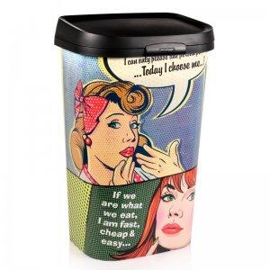 Curver Pop-Art Mülleimer 50 Liter für 19,99 €