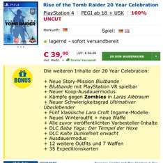 Rise of the Tomb Raider Ps4 Spiel