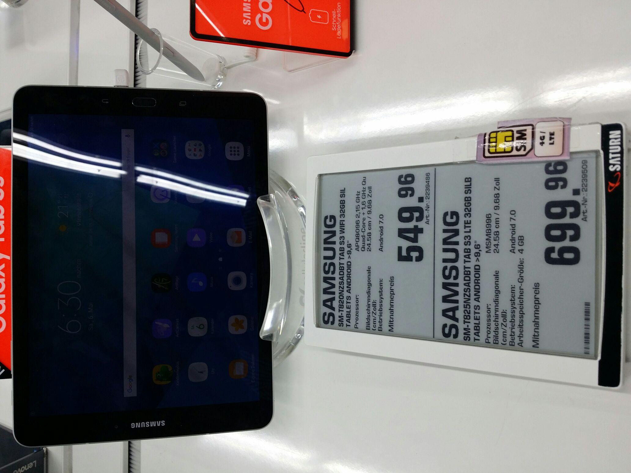Samsung Galaxy Tab S3 @Saturn