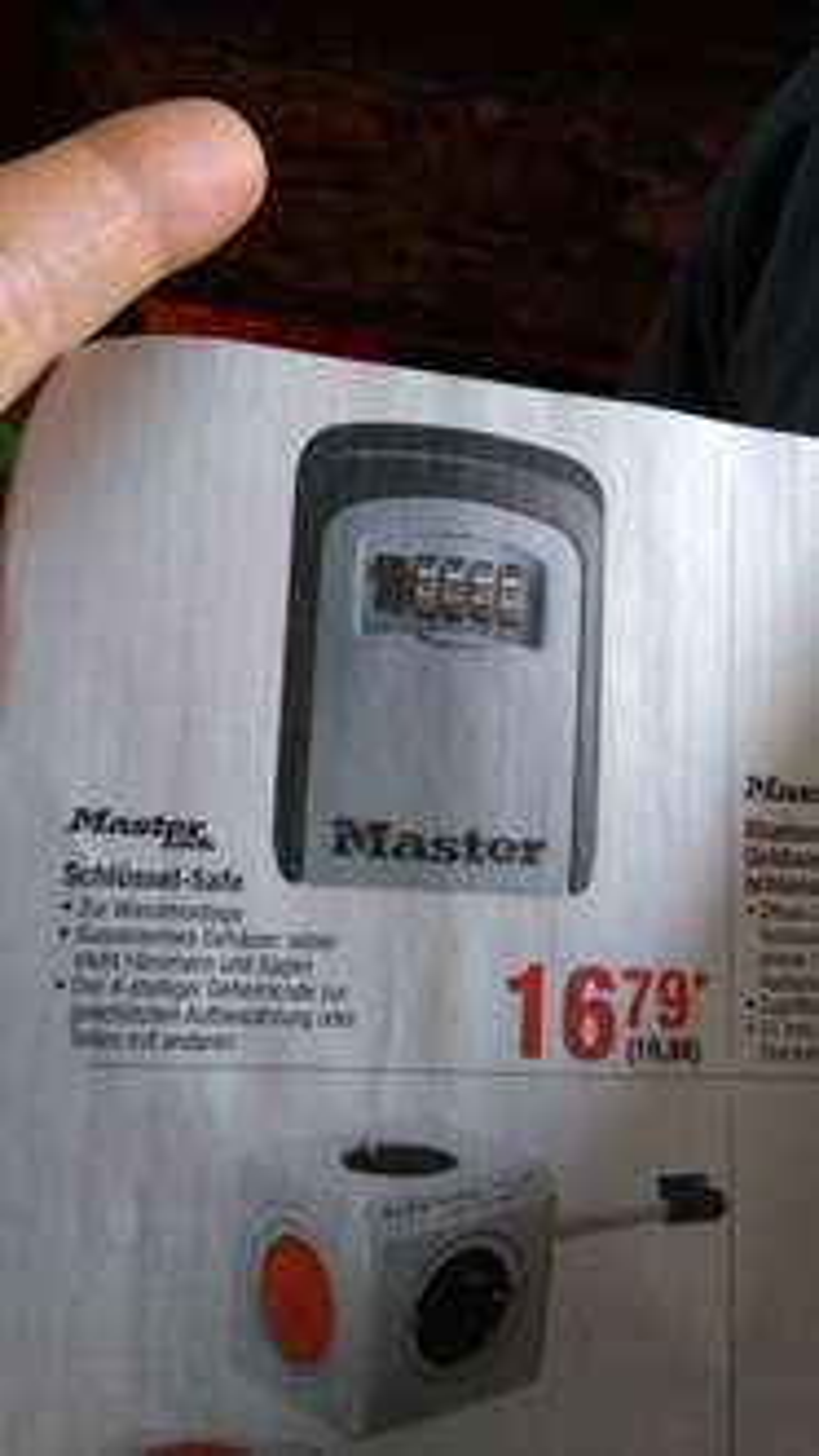 [METRO] Masterlock Schlüssel-Safe PVG 25,95