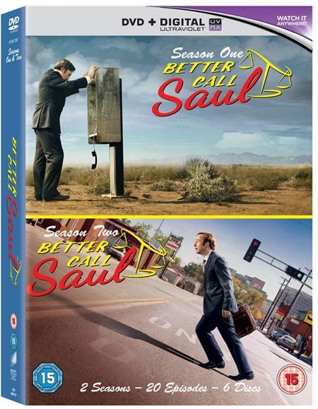 [Zoom.co.uk]  Better Call Saul: Season 1 & 2 (Boxset With UV Copy) DVD [auf Deutsch und Englisch] inkl. Versand nach Deutschland Blu-Ray für 29 €