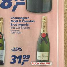 [real] 0,75L Moet Brut Imperial + 7fach Payback Punkte