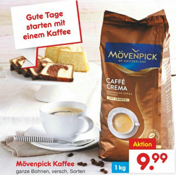 Netto Mövenpick Cafe Crema Bohnen