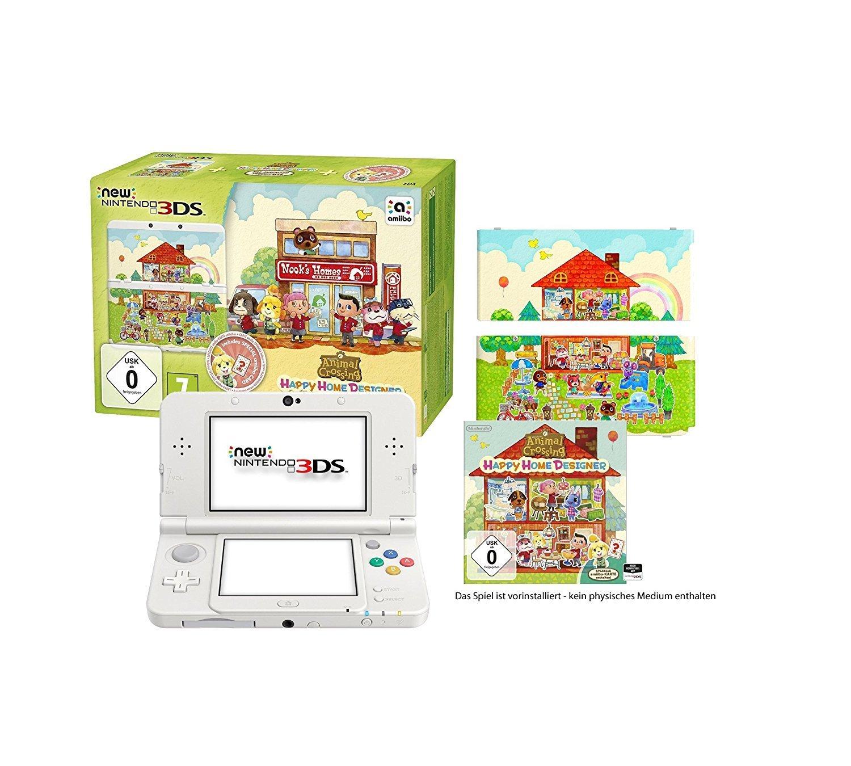 [Amazon][WHD] Nintendo New 3DS weiß Animal Crossing Happy Home Designer Bundle ab 112,49€ (ausverkauft), 119,93€ (sehr gut) und 122,91€ (wie neu)