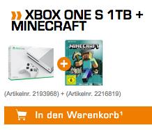 MICROSOFT Xbox One S 1TB Konsole + Minecraft