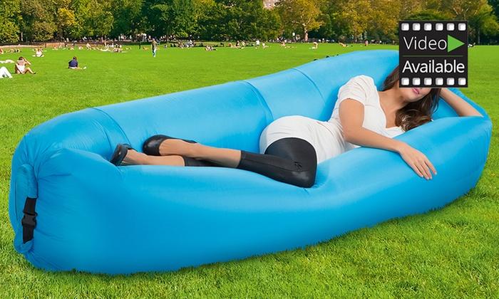 RELAXmaxx Luft-Couch in Blau für 25€