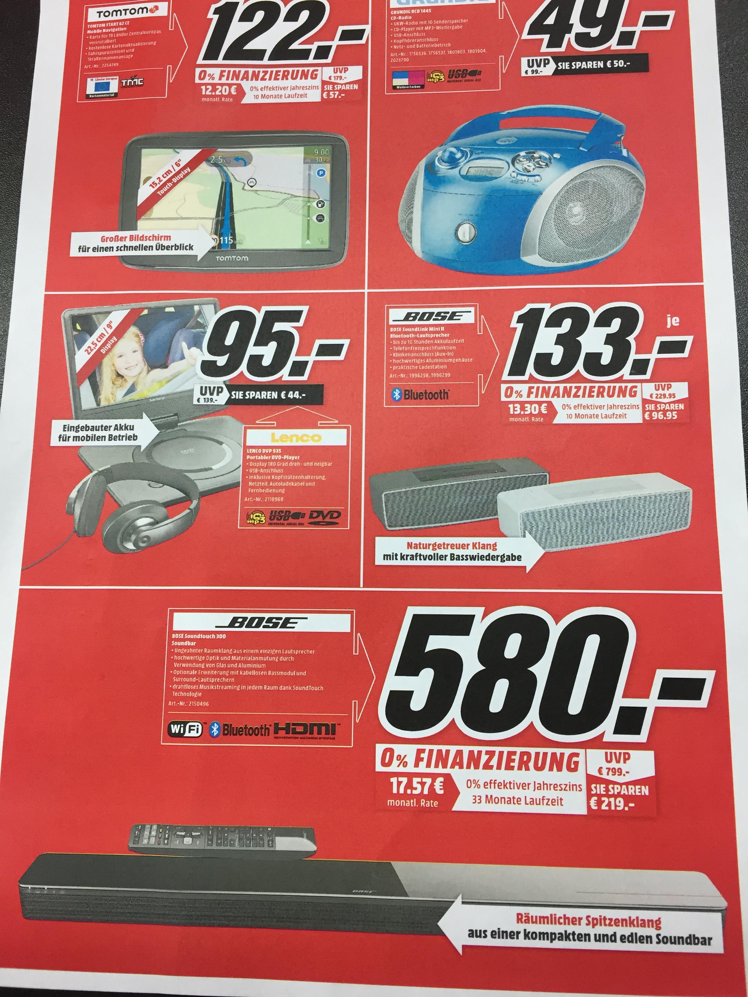 [Lokal Media Markt Meerane] Bose Soundtouch 300 & Soundlink Mini II
