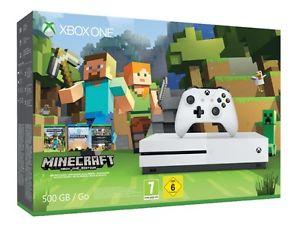 MICROSOFT Xbox One S 500GB Konsole - Minecraft Bundle EBAY