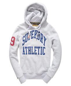 Neuer Herren Superdry Tigers Athletic Kapuzenpulli Ice Marl NUR XS 19,15€ statt 79,95€ [@SuperdryEbayStore