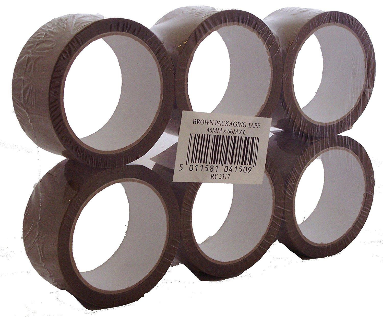 (Vorbesteller) @ Amazon - 6er Pack braunes Verpackungsband aus Polypropylen