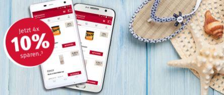4x 10% Rabatt in den Rossmann Filialen mit der Rossmann App (iOS, Android)
