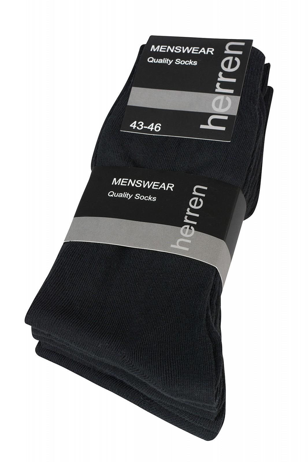 [outlet46.de] 5er Pack CNB Herren Socken Schwarz [ 39-42 + 43-46 ]
