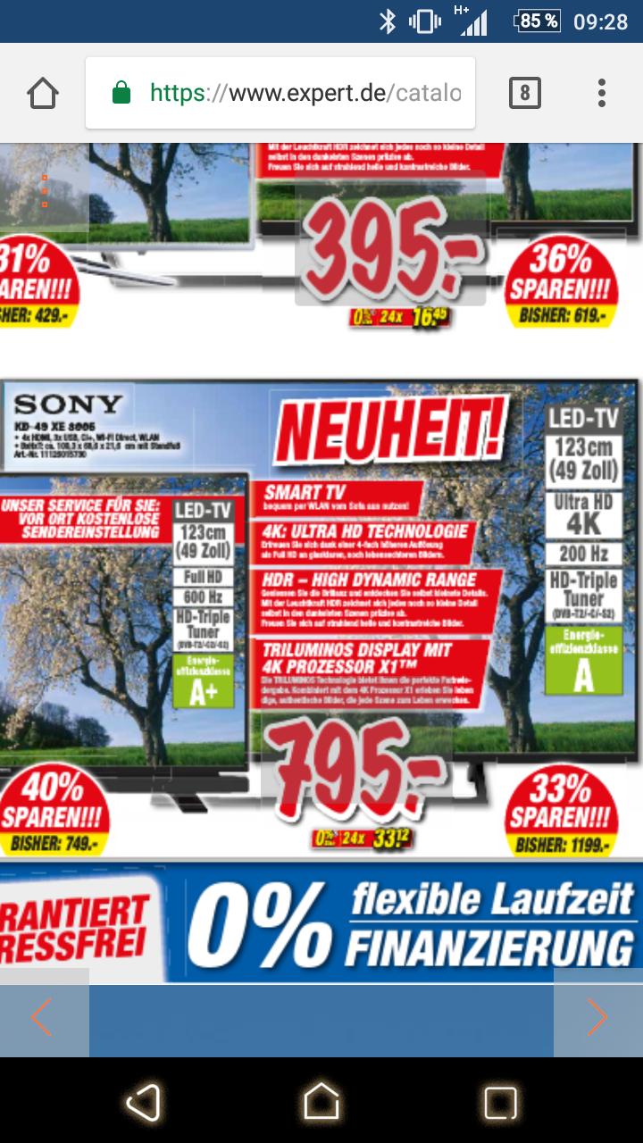 Techno-Land Deizisau: Sony KD49XE8005BAEP