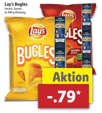 [ab 15.5.] Lay's Bugles für 79 Cent bei Lidl