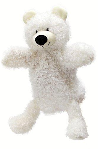 ABA 28 cm Bär Handpuppe mit Beinen (weiß)