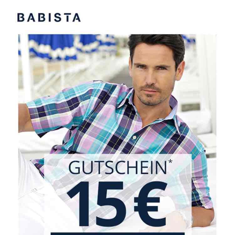 15 EUR Gutschein zum Kennenlernen: Entdecke Männermode von BABISTA!