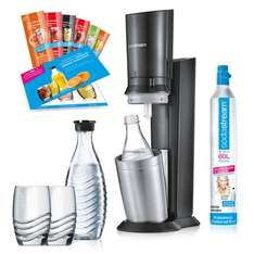 Sodastream CRYSTAL 2.0 für 88€ + gratis Glaskaraffe [MediaMarkt] *Update 3* + 2 Gläsern + 6 Sirupproben zum gleichen Preis bei Check24