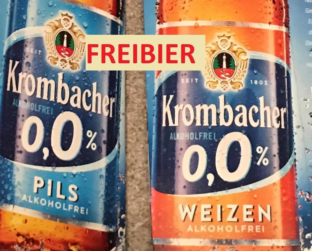 [Lokal] Rewe Niedergirmes Gratis Krombacher Weizen/Pils Alkoholfrei