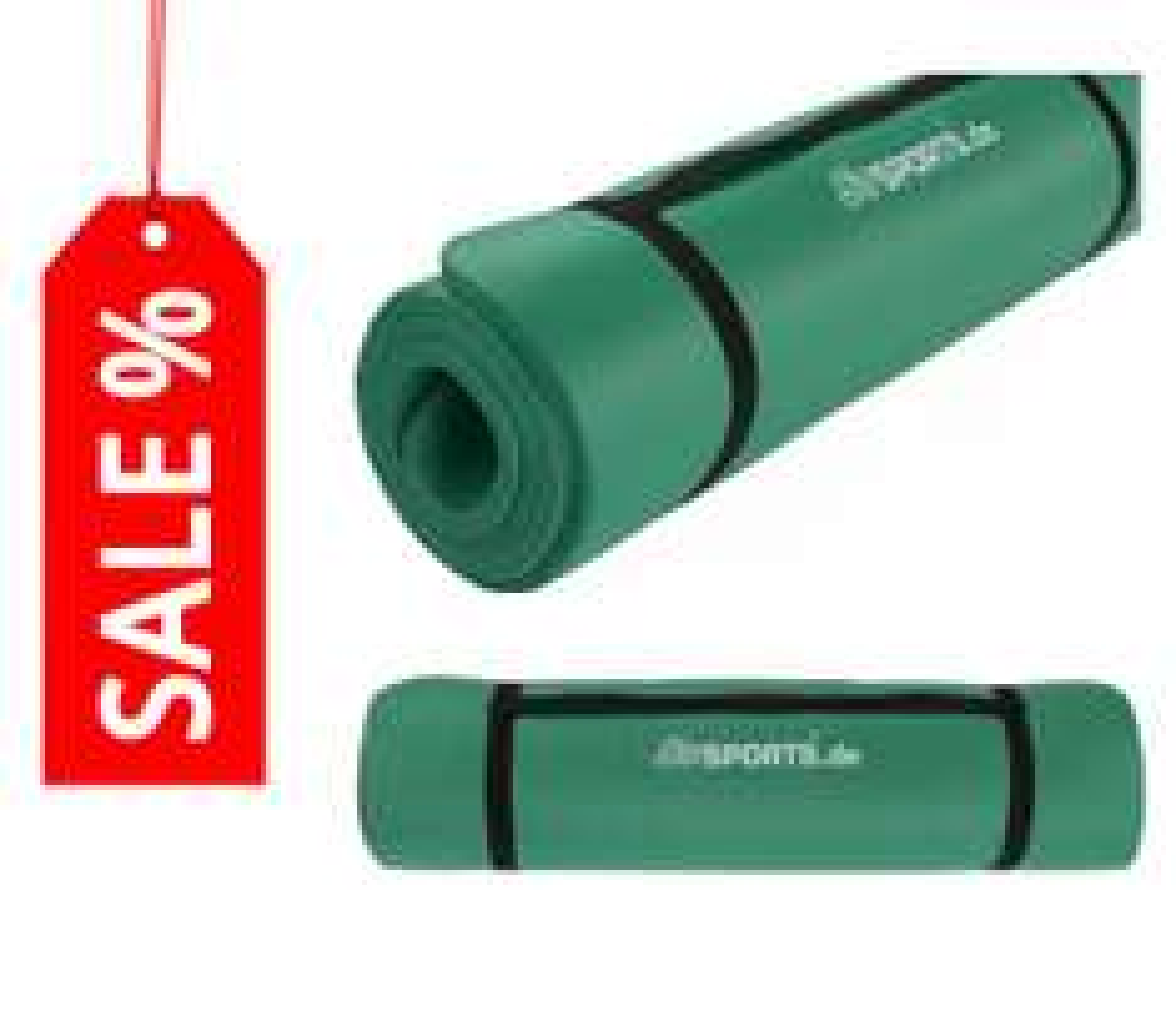 30% Rabatt auf Gymnastikmatte Sportmatte 180 x 60 x 1,5 cm grün > 12,57 € statt 17,95 € --> Versandkostenfrei