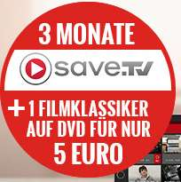 Save.TV XL: 3 Monate + 1 DVD (z.B. Deadpool) für 5€