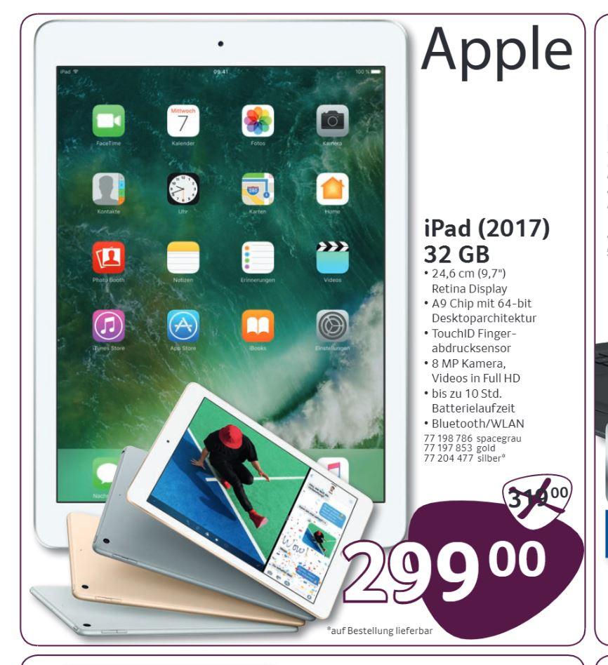[Bundesweit lokal Selgros] - iPad 2017, 32GB,  WIFI