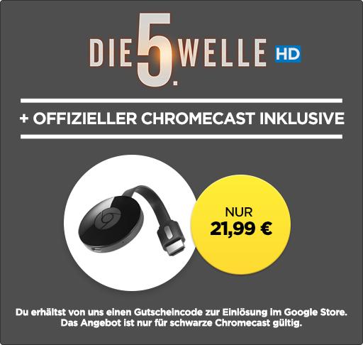 """Wieder Da: Chromecast 2 inklusive """"Die 5. Welle"""" für 21,99€"""