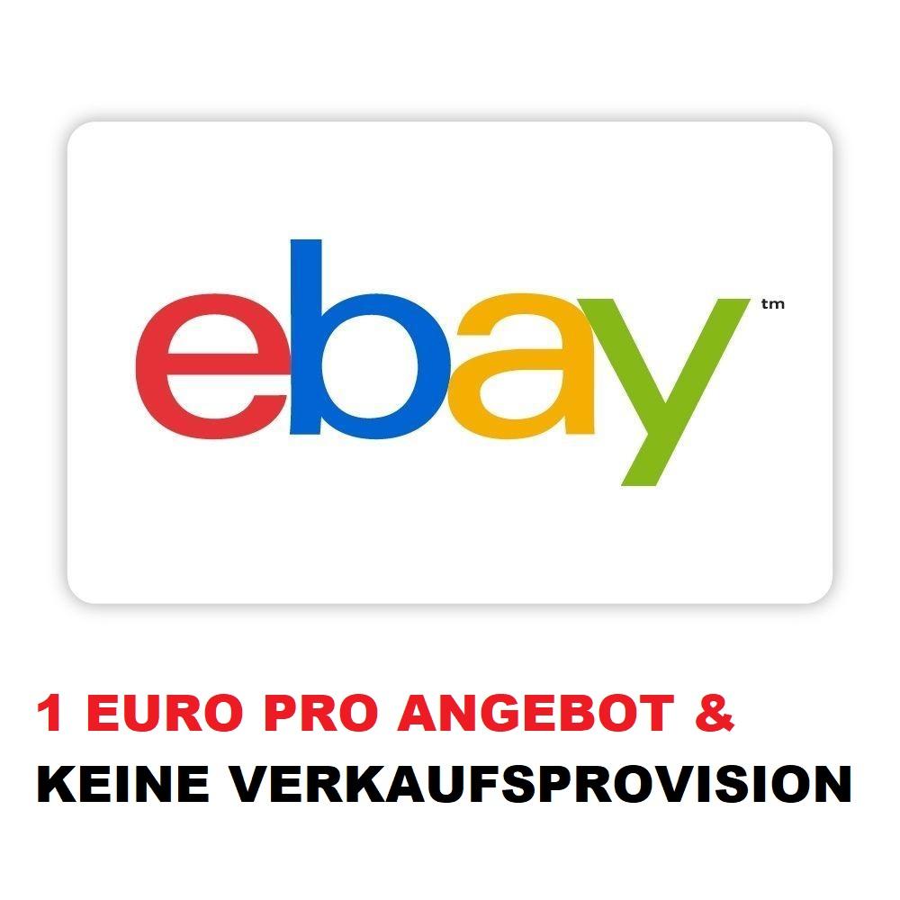 [ebay] 1€ pro eingestelltem Artikel | keine Verkaufsprovision | für 3 Artikel