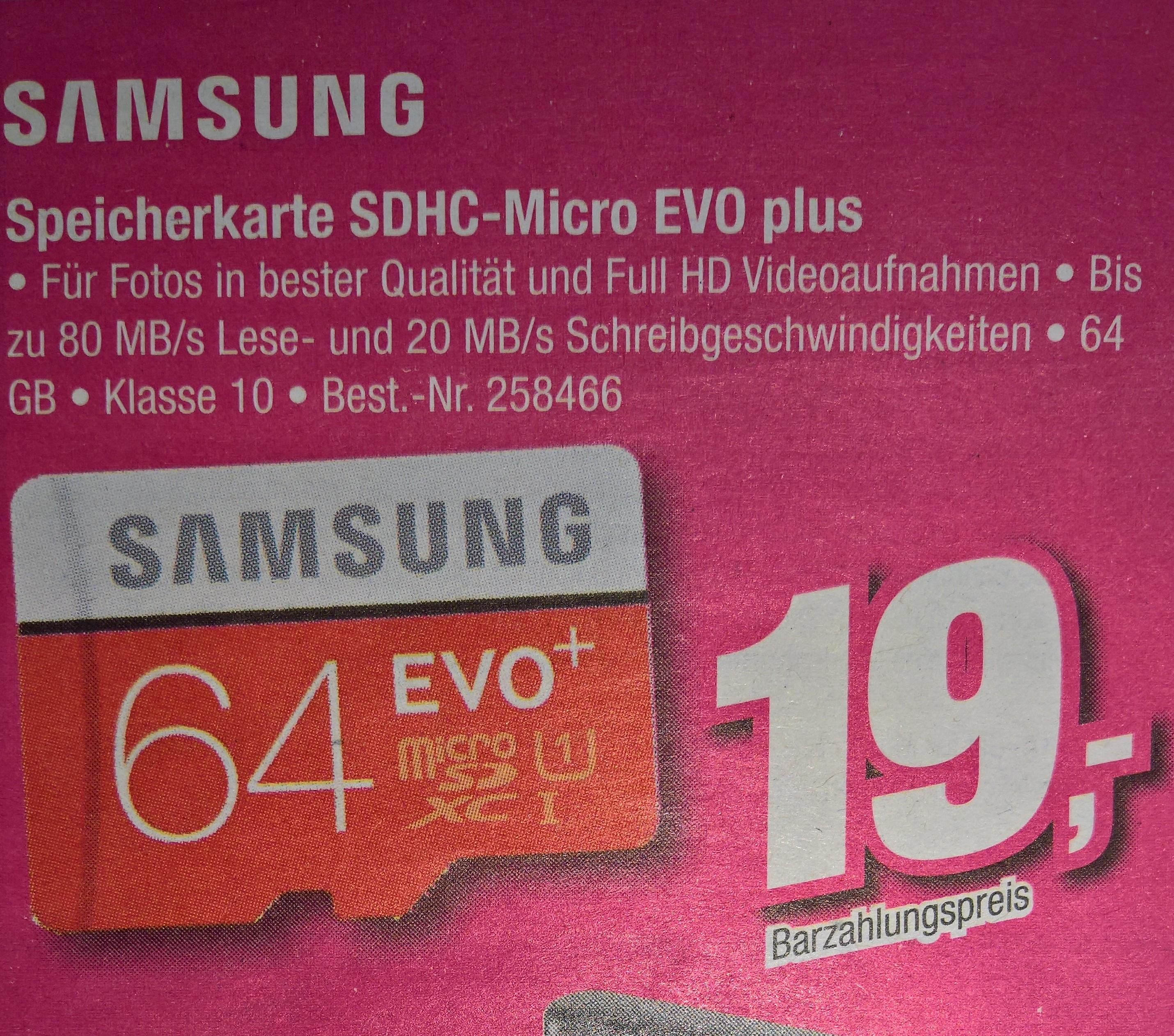 LOKAL Telepoint - 64gb Samsung Micro SDHC EVO plus