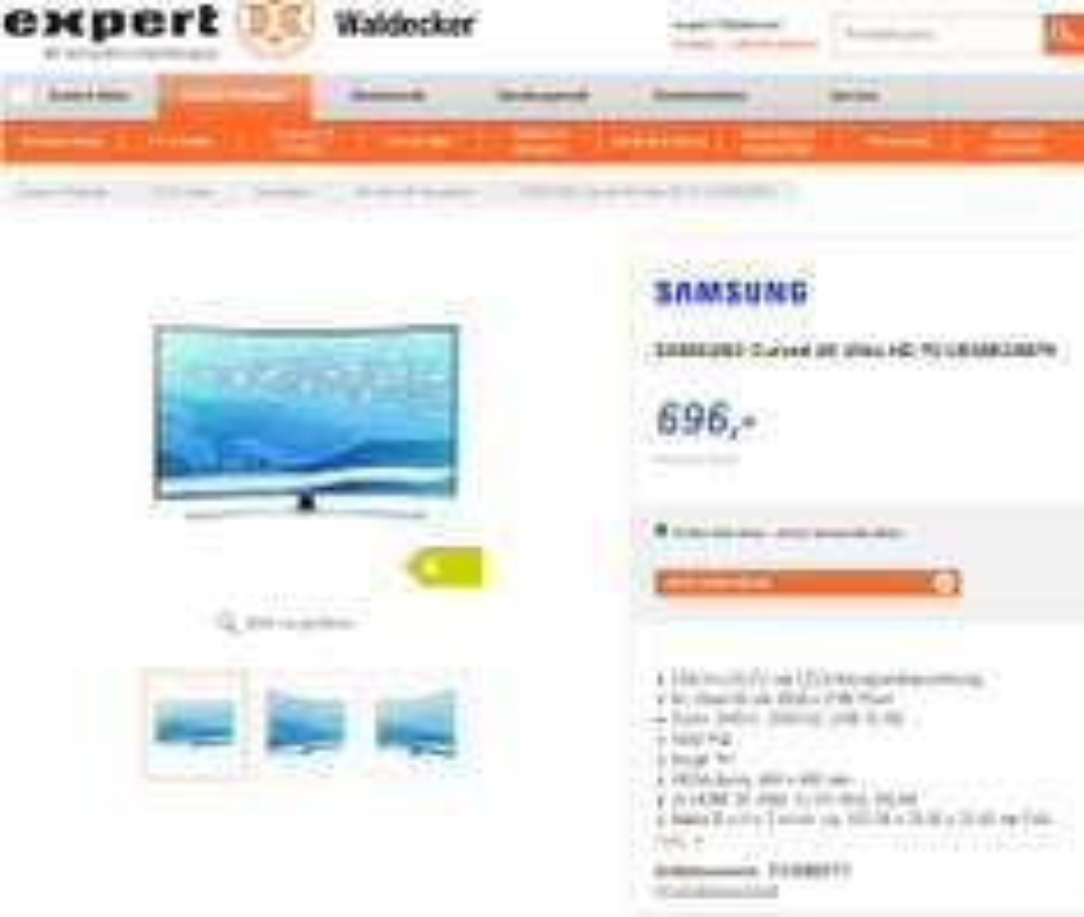 Expert Waldecker Bielefeld Samsung UE 55 KU6679