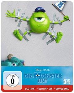 Die Monster Uni (3D + 2D + Bonus BD Limitiertes Steelbook) (Blu-ray) für 8,90€ (Moluna)